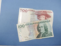 Swedish currency notes Stock Photo