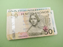 Swedish currency notes Stock Images