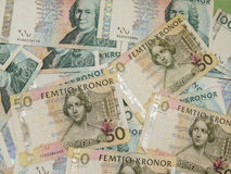 Swedish currency notes Royalty Free Stock Photo