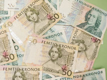 Swedish currency notes Royalty Free Stock Photos