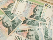 Swedish currency notes. Swedish currency SEK from Sweden useful as a background Royalty Free Stock Photo
