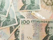 Swedish currency notes. Swedish currency SEK from Sweden useful as a background Stock Photos