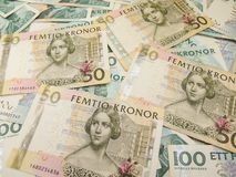 Swedish currency notes Stock Image