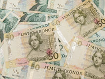 Swedish currency notes Royalty Free Stock Images