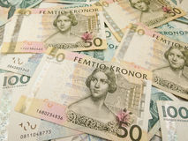 Swedish currency notes. Swedish currency SEK from Sweden useful as a background Stock Image