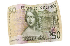 Swedish currency with theater theme Stock Photography
