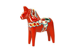 Swedish dala horse. Traditional swedish red dala horse handicraft souvenir Royalty Free Stock Photography