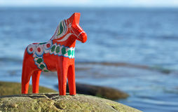 Swedish Dalahorse in the Wild Royalty Free Stock Images