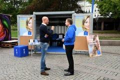 Swedish election 2018 Compaign in Malmo city Sweden. Malmo/Malmoe/MalM�/Sweden 31.August 2018 _ .All swedish politic partes , social democrat, swedish democrat Stock Photos