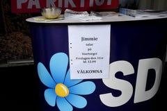 Swedish election 2018 Compaign in Malmo city Sweden. Malmo/Malmoe/MalM�/Sweden 31.August 2018 _ .All swedish politic partes , social democrat, swedish democrat Royalty Free Stock Image