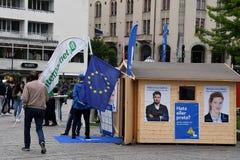 Swedish election 2018 Compaign in Malmo city Sweden. Malmo/Malmoe/MalM�/Sweden 31.August 2018 _ .All swedish politic partes , social democrat, swedish democrat Royalty Free Stock Photos
