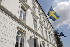 SWEDISH EMBASSY Stock Photo