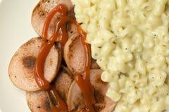 Swedish Falukorv Sausage with Macaronis Royalty Free Stock Image