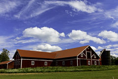A Swedish Farm. Stock Photos