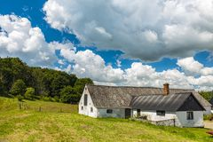Swedish Farm House. A swedish farm house in the countryside near to Ales stenar Royalty Free Stock Image