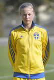 Swedish female football player - Lina Hurtig Royalty Free Stock Photo