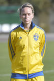 Swedish female football player - Lisa Dahlkvist Royalty Free Stock Photo