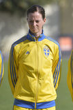 Swedish female football player - Lotta Schelin Stock Photography