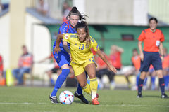 Swedish female football player - Malin Diaz Stock Photography