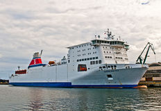 Swedish ferry ship in a harbor Stock Photography