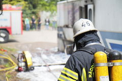 Swedish firefighter Royalty Free Stock Photography