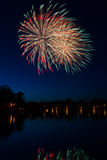 Swedish fireworks in vertical landscape Stock Photos