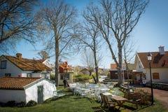 Swedish fishing village Stock Photos