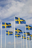 Swedish flag. On the national day Royalty Free Stock Photo