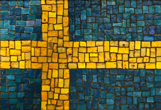 Swedish flag Royalty Free Stock Image