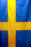 Swedish Flag. Close up of the Swedish flag, vertical image Stock Images