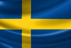 Swedish flag Stock Photos