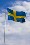 Swedish flag. On sky background Stock Image