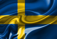 Swedish flag Royalty Free Stock Photography