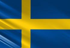 Swedish flag Royalty Free Stock Photos