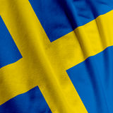 Swedish Flag Closeup. Close up of the Swedish flag, square image Stock Photo