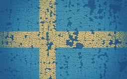Swedish flag. On cracked background stock photos