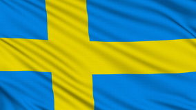 Swedish flag. Royalty Free Stock Photo