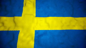 Swedish Flag Seamless Video Loop stock video