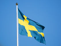 Swedish flag, Sweden Royalty Free Stock Photos