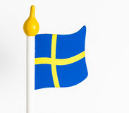 Swedish flag in wood Stock Photo