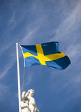 Swedish flag Royalty Free Stock Photo