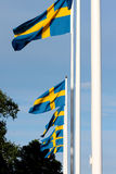 Swedish flags Stock Photography