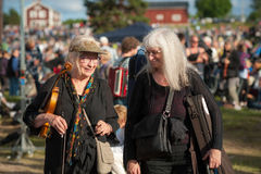 Swedish folk music festival Stock Photos