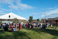 Swedish folk music festival Stock Photo