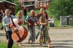 Swedish folk music festival Stock Images