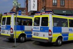 Swedish police Royalty Free Stock Photo