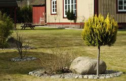 Swedish garden decorations Royalty Free Stock Photography