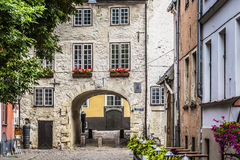 Swedish Gate in the old city of Riga, Latvia Royalty Free Stock Photos