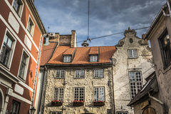 Swedish Gate in the old city of Riga, Latvia Royalty Free Stock Photo