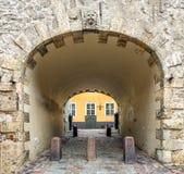 Swedish gate in old Riga city, Latvia Stock Photos